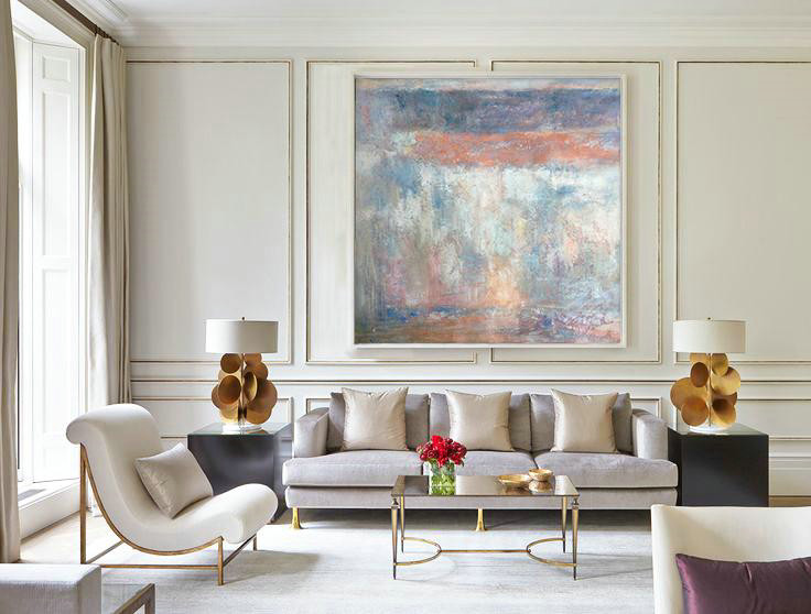 Hand Painted Extra Large Abstract Painting,Oversized Contemporary Art,Contemporary Wall Art Orange,Grey,White,Blue