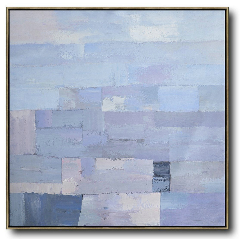 Extra Large Acrylic Painting On Canvas,Oversized Contemporary Art,Original Art Acrylic Painting Violet Ash,Grey,Blue