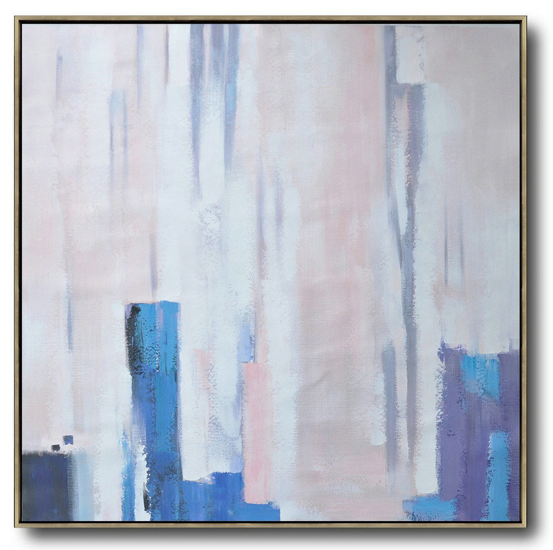 Handmade Extra Large Contemporary Painting,Oversized Contemporary Art,Oversized Canvas Art White,Pink,Violet Ash