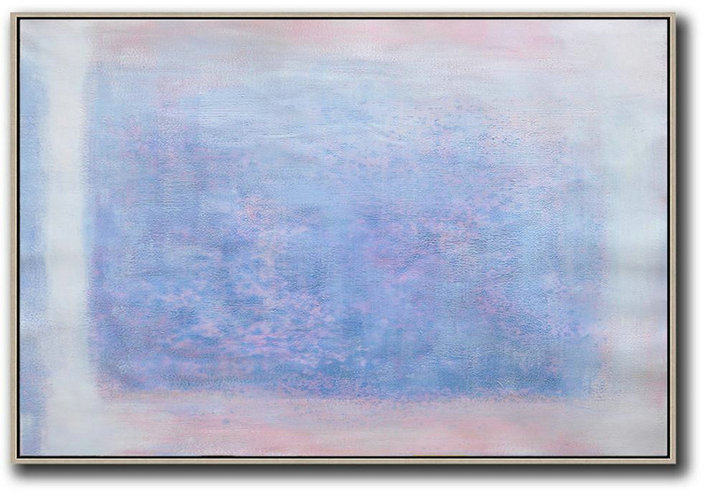Original Abstract Painting Extra Large Canvas Art,Oversized Horizontal Contemporary Art,Large Canvas Wall Art For Sale Pink,Blue,Purple,White