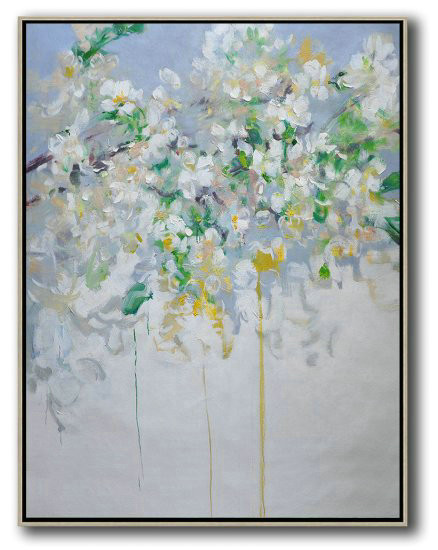Large Abstract Painting,Hame Made Extra Large Vertical Abstract Flower Oil Painting,Abstract Paintings On Sale #Z5D3