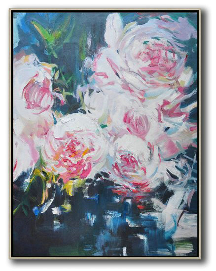 Hand Made Abstract Art,Hame Made Extra Large Vertical Abstract Flower Oil Painting,Abstract Oil Painting #L5C4