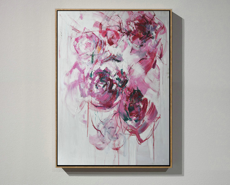 Extra Large Painting,Oversized Abstract Flower Oil Painting,Huge Canvas Art On Canvas #D2B4